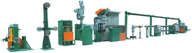 Auto Cable Sheathing Extruder Line
